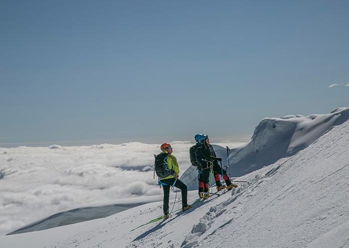 Climbing to the Cotopaxi Ecuador